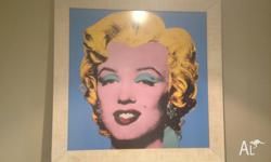 This is a large sized, very striking framed Marilyn