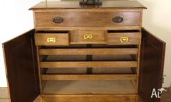 Antique Australian Oak Gentlemens chest with