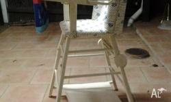 1950's Baby high chair, which converts to a table and