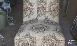 Antique Boudoir � Slipper � Bedroom Chair Back is 76cm
