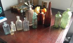 Collection of antique glass bottles! Email for details.