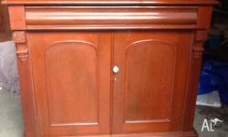 Two door chiffonier buffet with large felt lined draw.
