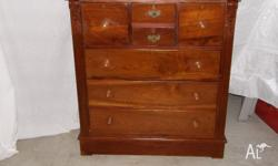 Antique Chest of Drawers in solid timber. Height