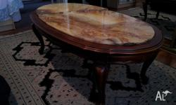 Beautiful old coffee table for sale! Nice carvings and
