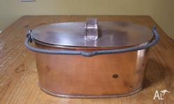 Antique copper fish kettle. Great for kitchen