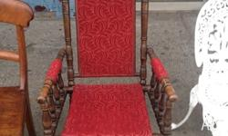 Here we have a beautiful rocking chair It's an original
