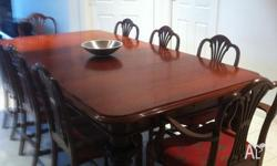Beautiful mahogany antique extendible dining table and