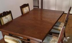 For Sale is a beautiful extendable dining table & four
