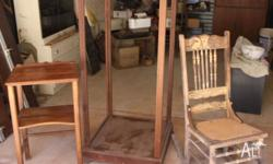 Antique Disply Cabinet $40.00 No Glass Classic Antique