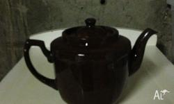 Authentic Vintage Brown Betty Tea Pot