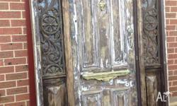 this is a lovely antique entry door, made out of