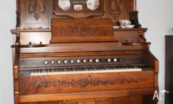 Antique Estey Reed Organ - Brattlebroo Vt, USA This is