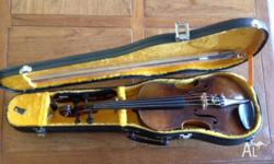 Second hand 3/4 violin in good quality condition, from