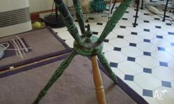 Antique gypsy table. Non-original top and 1 leg. Pickup