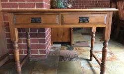 Beautiful GENUINE hall table. Light wood in very good