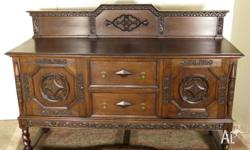 Antique & Classy Jacobean Oak Sideboard/Buffet/