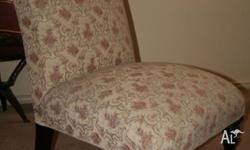 Antique ladies chair. Fabric in good condition; no