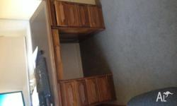 Gorgeous leather top desk with 7 drawers. Needs a