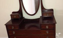 Mahogany Dressing Table in beautiful condition Late