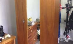 Antique maple wardrobe, fully restored; excellent