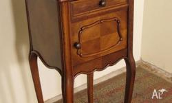 Antique French Walnut single Cabinet/Bedside Cabinet/