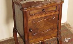 Antique French Walnut single Cabinet / Bedside Cabinet