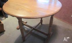Drop Side Antique Table made from Tasmanian Oak.