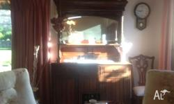 Very old Tasmanian Blackwood sideboard - carved top