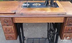 Beautiful old Singer Sewing Treadle Machine with 6
