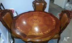This very beautiful solid antique style round dining