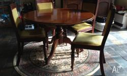 Antique table and 4 chairs Good condition