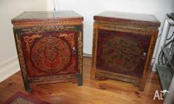 Two Antique Tibetin side tables. One in good condition,