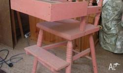 Antique wooden high chair in good condition. Great for