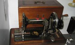RARE ANTIQUE WARD AND BROTHER HAND CRANK SEWING MACHINE