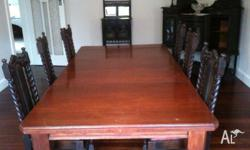 Antique grand wooden dining table - good condition.