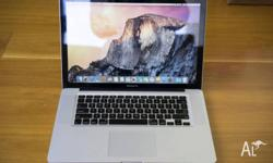 "Apple 15"" Macbook Pro 2.3Ghz (3.3Ghz Turbo) Quad Core"