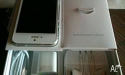 The Iphone 5 Black/white 64GB is in new box and.no