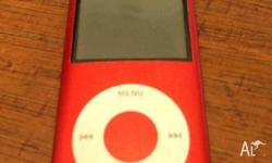 Used iPod 5th Gen Product Red, minimal blemishes, Full