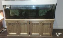 Up for sale my 6ftx2x2 fish tank with atand pump