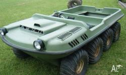 Argo 8x8 AWD, 6 adults, comes with a full set of tyers,
