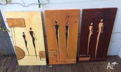 3 x Original Artwork canvases Look amazing together -