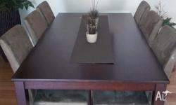 for sale as new 9 piece dining table and chairs . was