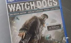 AS NEW - Watchdogs ANZ Special Edition on PS4 Used once