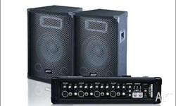 Ashton P A 4 channel, 2 speakers with cords, 100 W