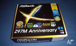 Selling an ASrock Z97M mobo with bent pins as pictured,