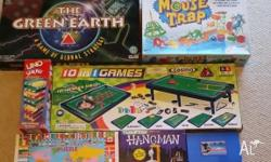 I am offering my used collection of board games, which