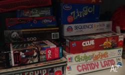 Candy land, chutes and ladders, zingo- can start play