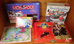 Assorted Children's Board Games -Boogle -Trivial