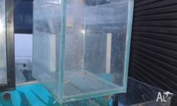 Assorted fish tanks 46cm by 24cm high 22cm wide $20