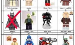 These are genuine Lego minifigs (not fakes) that have